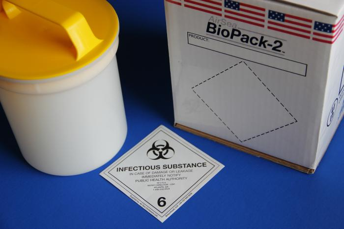 Image of hazardous materials shipping materials.